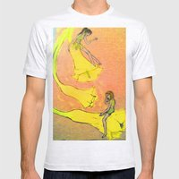 Laughing Flowers Mens Fitted Tee Ash Grey SMALL