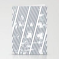Grunge Blue stripes on white background illustration Stationery Cards