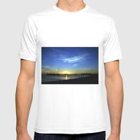 Brighton Pier Mens Fitted Tee White SMALL