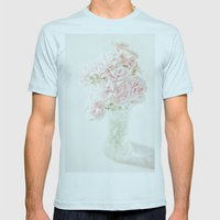 Vintage Flowers [Light T… Mens Fitted Tee Light Blue SMALL