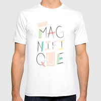 c'est magnifique Mens Fitted Tee White SMALL