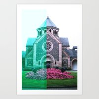 Cracked church... Art Print