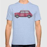 Original Austin Mini - B… Mens Fitted Tee Athletic Blue SMALL