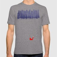 Alone In The Forest Mens Fitted Tee Tri-Grey MEDIUM