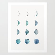 Moon Phases - Light Art Print