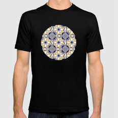 Portuguese Tiles Mens Fitted Tee Black SMALL