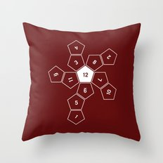 Unrolled D12 Throw Pillow