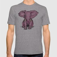 Pink Elephant And Roger Mens Fitted Tee Athletic Grey SMALL