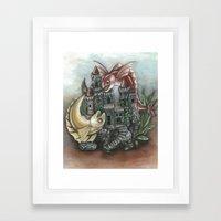 INKYFISH - Fish Tank Hide and Seek Framed Art Print