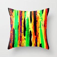 paint pattern 2 (red yellow & orange & green & blue) Throw Pillow