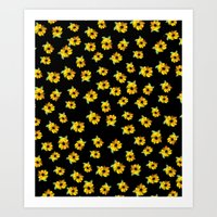 Painted Sunflowers Art Print