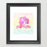 GRUNGE Pinkie Framed Art Print
