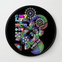 c my life in rgb Wall Clock