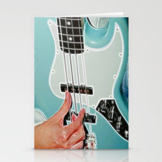 Mr Bassman Guitar fractals Stationery Card