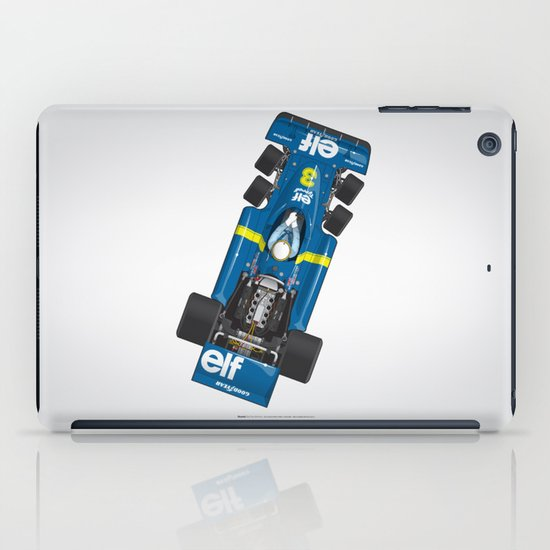 Outline Series N.º3, Jody Scheckter, Tyrrell-Ford 1976 iPad Case