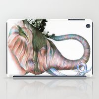 Elephant Shower in Red iPad Case