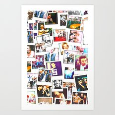 POLAROID ONE DIRECTION 1… Art Print