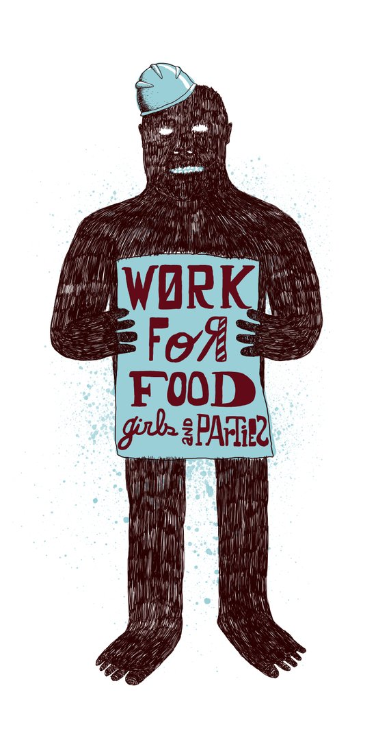 Work For Art Print