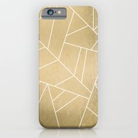 iPhone Cases featuring Minimal Gold by Elisabeth Fredriksson