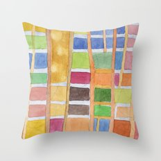 Rectangle Pattern With Sticks Throw Pillow