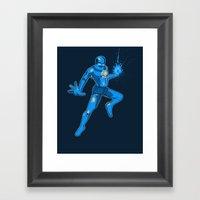 Tobias The Blue Lantern Framed Art Print