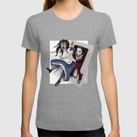 Queen Of Hearts Womens Fitted Tee Tri-Grey SMALL