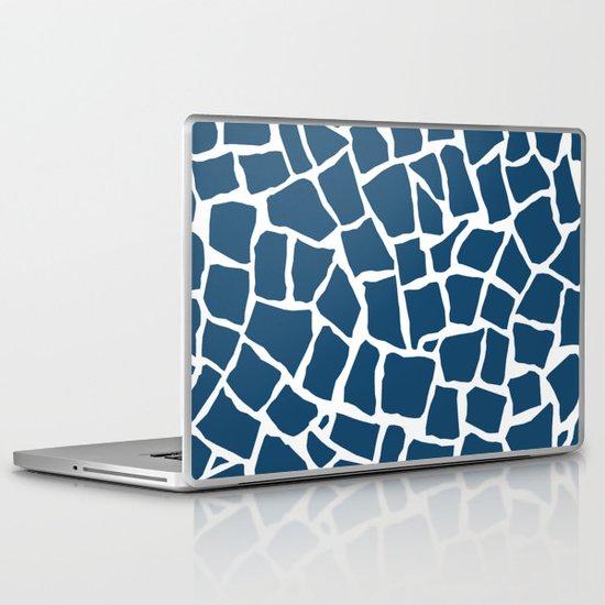 Mosaic Zoom Navy Laptop & iPad Skin