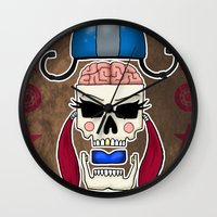 Skater Skull By RonkyTon… Wall Clock