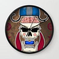 Skater Skull By RonkyTon… Wall Clock