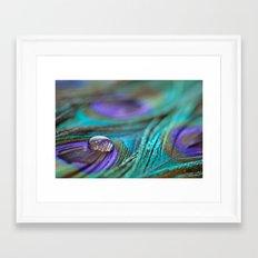 Jewel on Feathers Framed Art Print