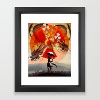 umbrellaliensunshine: atomic dragonspring Framed Art Print
