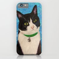 iPhone & iPod Case featuring Moo the Cat by gretzky