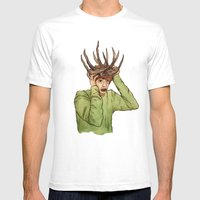 Antlers Mens Fitted Tee White SMALL