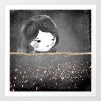 Bed Star Art Print
