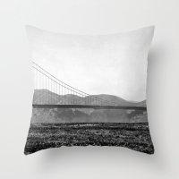 Golden San Fran Throw Pillow