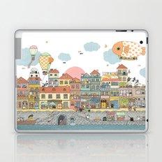 79 Cats in Harbor City Laptop & iPad Skin