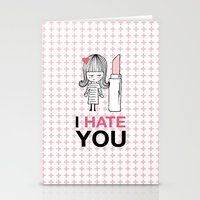 I Hate You / Lipstick Stationery Cards