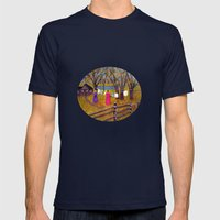 Wash day Mens Fitted Tee Navy SMALL