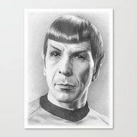Spock - Fascinating (Sta… Canvas Print