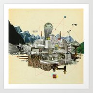Collage City Mix 7 Art Print