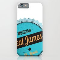 Deal James, Round Sticker Blue iPhone 6 Slim Case