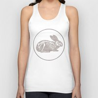 In which a rabbits anatomy is observable  Unisex Tank Top
