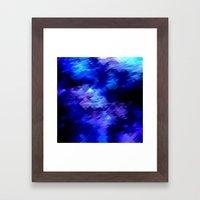 Anemone Wave Pixel Framed Art Print