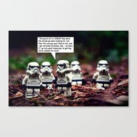 Force Choked =) Canvas Print