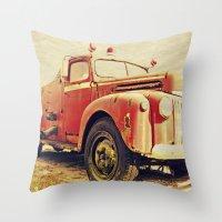 Full Truck Heroes Never Die.  Throw Pillow