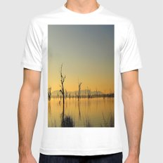 Tranquility  White SMALL Mens Fitted Tee