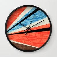 Graphic Woodgrain Wall Clock