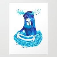 Baby Blue #4 Art Print