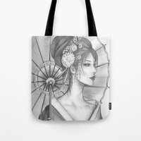 Elegant Oriental Japanese Geisha by Ashley Rose Standish Tote Bag