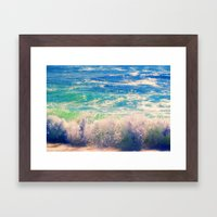 Aqua Mist Framed Art Print